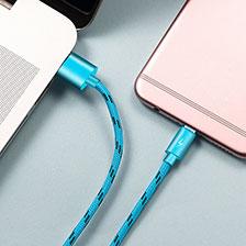 Kabel USB 2.0 Android Universal A03 Hellblau