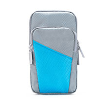 Sport Armband Tasche Sportarmband Laufen Joggen Diamant Universal B09 Grau
