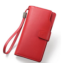 Handtasche Clutch Handbag Schutzhülle Leder Universal Rot