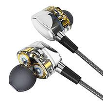 Kopfhörer Stereo Sport Ohrhörer In Ear Headset H04 Silber