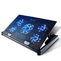 NoteBook Halter Halterung Kühler Cooler Kühlpad Lüfter Laptop Ständer 9 Zoll bis 16 Zoll Universal M01 für Apple MacBook Pro 15 zoll Retina Schwarz