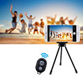 Selfie Stick Stange Bluetooth Teleskop Universal S26 Schwarz