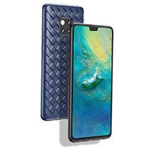 Silikon Hülle Handyhülle Gummi Schutzhülle Köper B02 für Huawei Mate 20 Pro Blau