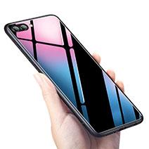 Silikon Hülle Handyhülle Gummi Schutzhülle Spiegel M02 für Huawei Honor V10 Schwarz