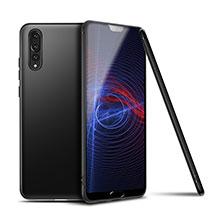 Silikon Hülle Handyhülle Ultra Dünn Schutzhülle Tasche S01 für Huawei P20 Pro Schwarz