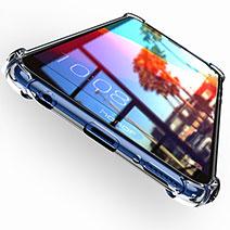 Silikon Schutzhülle Ultra Dünn Tasche Durchsichtig Transparent T04 für Huawei Y7 (2018) Klar