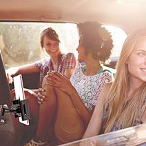 Universal Faltbare Ständer KFZ Halter Halterungung Rücksitz Handy Halter Halterung B01 Schwarz