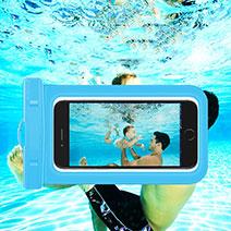 Wasserdicht Unterwasser Handy Tasche Universal W05 Blau