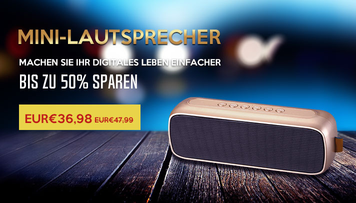 Bluetooth Mini Lautsprecher Wireless Speaker Boxen S09 Braun