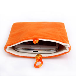 Schmuckbeutel Schwarz Samtbeutel Samtsäckchen Universal Orange