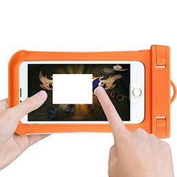 Wasserdicht Unterwasser Handy Schutzhülle Universal Orange