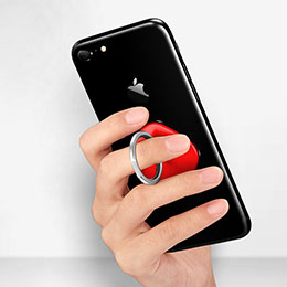 Fingerring Ständer Smartphone Halter Halterung Universal R02 Rosegold