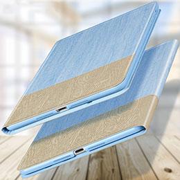Schutzhülle Stand Tasche Leder L02 für Apple New iPad 9.7 (2018) Hellblau