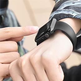 Silikon Hülle Handyhülle Ultra Dünn Schutzhülle Durchsichtig Transparent für Apple iWatch 3 38mm Schwarz