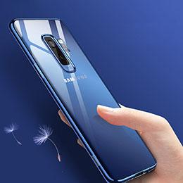 Silikon Schutzhülle Ultra Dünn Tasche Durchsichtig Transparent T09 für Samsung Galaxy S9 Plus Blau