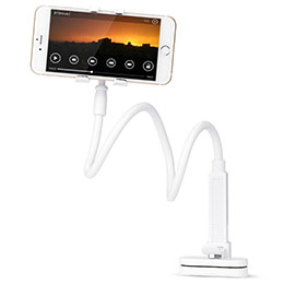 Universal Faltbare Ständer Smartphone Halter Halterung Flexibel T13 Weiß