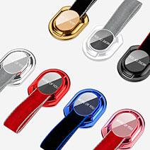 Fingerring Ständer Smartphone Halter Halterung Universal R11 Rot