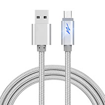 Kabel USB 2.0 Android Universal A10 Silber