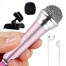 Mini-Stereo-Mikrofon Mic 3.5 mm Klinkenbuchse Mit Stand M12 Rosa