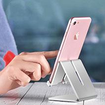 Smartphone Halter Halterung Handy Ständer Universal T16 Silber
