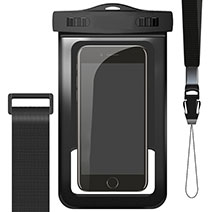 Wasserdicht Unterwasser Handy Tasche Universal W02 Schwarz
