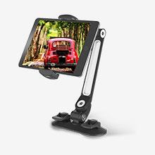 Universal Faltbare Ständer Tablet Halter Halterung Flexibel H11 für Apple New iPad 9.7 (2018) Schwarz