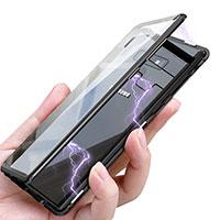 Handyhülle Hülle Luxus Aluminium Metall Durchsichtig Transparent Spiegel für Samsung Galaxy Note 9 Schwarz