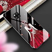 Handyhülle Silikon Hülle Rahmen Schutzhülle Spiegel Motiv Kleid Mädchen für Huawei Mate 20 Pro Plusfarbig