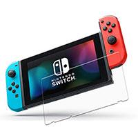 Schutzfolie Displayschutzfolie Panzerfolie Skins zum Aufkleben Gehärtetes Glas Glasfolie T04 für Nintendo Switch Klar