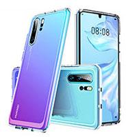 Silikon Schutzhülle Rahmen Tasche Hülle Durchsichtig Transparent Spiegel M02 für Huawei P30 Pro Klar