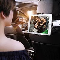 Universal Faltbare Ständer KFZ Halter Halterungung Rücksitz Handy Halter Halterung B02 Rot