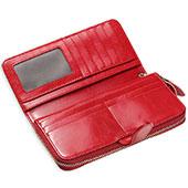 Handtasche Clutch Handbag Hülle Leder Universal Rot