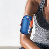 Sport Armband Tasche Sportarmband Laufen Joggen Diamant Universal B01 Blau