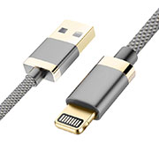 USB Ladekabel Kabel D24 für Apple iPhone 11 Grau