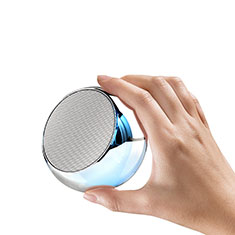 Bluetooth Mini Lautsprecher Wireless Speaker Boxen S03 für Xiaomi Mi 9 Pro 5G Silber