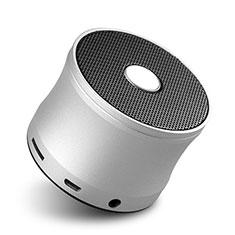 Bluetooth Mini Lautsprecher Wireless Speaker Boxen S04 für Xiaomi Mi 9 Pro 5G Silber