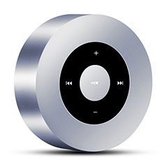 Bluetooth Mini Lautsprecher Wireless Speaker Boxen S07 für Apple iPad New Air 2019 10.5 Silber