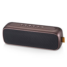 Bluetooth Mini Lautsprecher Wireless Speaker Boxen S09 für Apple iPhone 11 Pro Braun
