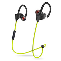 Bluetooth Wireless Stereo Kopfhörer Sport Ohrhörer In Ear Headset H48 für Samsung Galaxy A8+ A8000 Grün