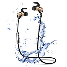 Bluetooth Wireless Stereo Kopfhörer Sport Ohrhörer In Ear Headset H50 für Samsung Galaxy Tab A6.10.1 SM-T580 SM-T585 Gold