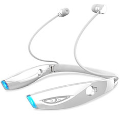 Bluetooth Wireless Stereo Kopfhörer Sport Ohrhörer In Ear Headset H52 für Samsung Galaxy Tab A6.10.1 SM-T580 SM-T585 Weiß