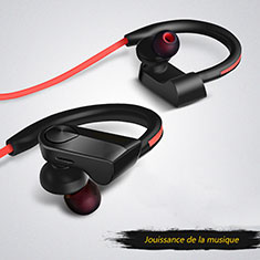 Bluetooth Wireless Stereo Kopfhörer Sport Ohrhörer In Ear Headset H53 für Huawei Honor View 20 Schwarz
