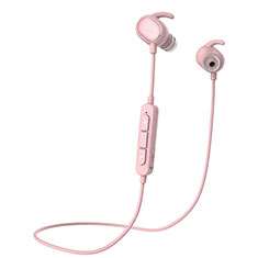 Bluetooth Wireless Stereo Ohrhörer Sport Kopfhörer In Ear Headset H43 für Samsung Galaxy Tab A6.10.1 SM-T580 SM-T585 Rosa