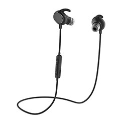 Bluetooth Wireless Stereo Ohrhörer Sport Kopfhörer In Ear Headset H43 für Motorola Moto One Zoom Schwarz