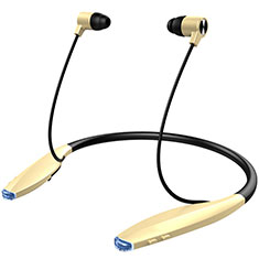 Bluetooth Wireless Stereo Ohrhörer Sport Kopfhörer In Ear Headset H51 für Xiaomi Mi 10 Ultra Gold