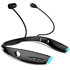Bluetooth Wireless Stereo Ohrhörer Sport Kopfhörer In Ear Headset H52 für Motorola Moto One Zoom Schwarz