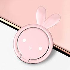 Fingerring Ständer Magnetische Smartphone Halter Halterung Universal S12 für Asus Zenfone Zoom ZX551ML Rosa