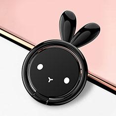Fingerring Ständer Magnetische Smartphone Halter Halterung Universal S12 für Asus Zenfone Zoom ZX551ML Schwarz