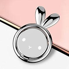 Fingerring Ständer Magnetische Smartphone Halter Halterung Universal S12 für Xiaomi Mi 9 Pro Silber