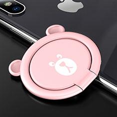 Fingerring Ständer Magnetische Smartphone Halter Halterung Universal S14 für Asus Zenfone Zoom ZX551ML Rosa